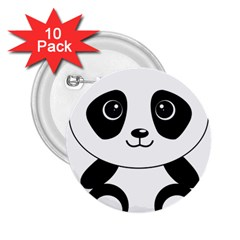 Bear Panda Bear Panda Animals 2 25  Buttons (10 Pack)  by Nexatart