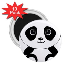 Bear Panda Bear Panda Animals 2 25  Magnets (10 Pack)  by Nexatart