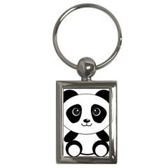 Bear Panda Bear Panda Animals Key Chains (rectangle)  by Nexatart