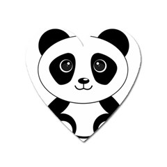 Bear Panda Bear Panda Animals Heart Magnet by Nexatart