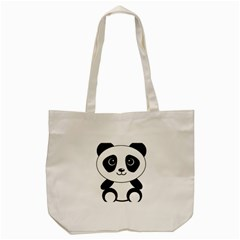 Bear Panda Bear Panda Animals Tote Bag (cream)