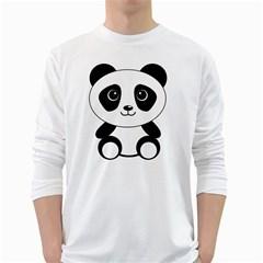 Bear Panda Bear Panda Animals White Long Sleeve T Shirts