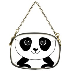 Bear Panda Bear Panda Animals Chain Purses (one Side)  by Nexatart