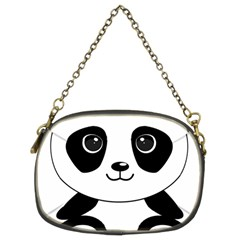 Bear Panda Bear Panda Animals Chain Purses (two Sides)
