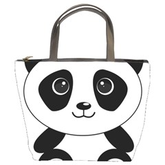 Bear Panda Bear Panda Animals Bucket Bags