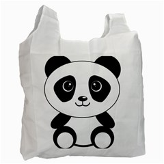 Bear Panda Bear Panda Animals Recycle Bag (one Side) by Nexatart
