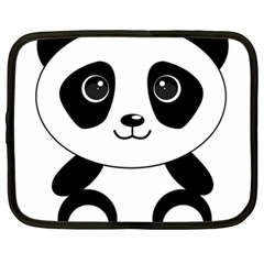 Bear Panda Bear Panda Animals Netbook Case (xl)