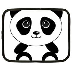 Bear Panda Bear Panda Animals Netbook Case (xxl)