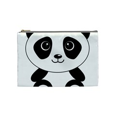Bear Panda Bear Panda Animals Cosmetic Bag (medium)  by Nexatart