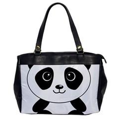 Bear Panda Bear Panda Animals Office Handbags by Nexatart