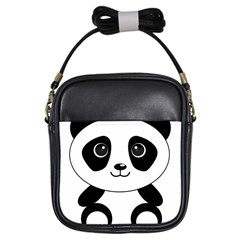 Bear Panda Bear Panda Animals Girls Sling Bags by Nexatart