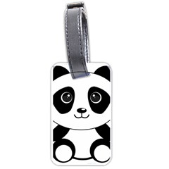 Bear Panda Bear Panda Animals Luggage Tags (one Side)  by Nexatart