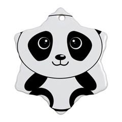 Bear Panda Bear Panda Animals Ornament (snowflake) by Nexatart