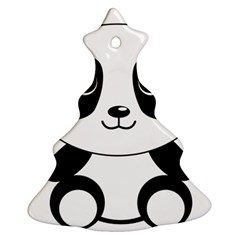 Bear Panda Bear Panda Animals Christmas Tree Ornament (two Sides) by Nexatart