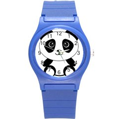 Bear Panda Bear Panda Animals Round Plastic Sport Watch (s) by Nexatart