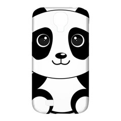 Bear Panda Bear Panda Animals Samsung Galaxy S4 Classic Hardshell Case (pc+silicone) by Nexatart