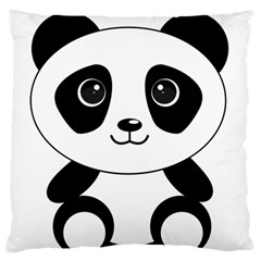 Bear Panda Bear Panda Animals Standard Flano Cushion Case (two Sides) by Nexatart