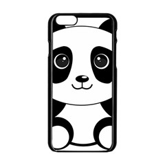 Bear Panda Bear Panda Animals Apple Iphone 6/6s Black Enamel Case by Nexatart