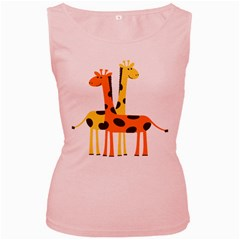 Giraffe Africa Safari Wildlife Women s Pink Tank Top
