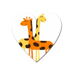 Giraffe Africa Safari Wildlife Heart Magnet