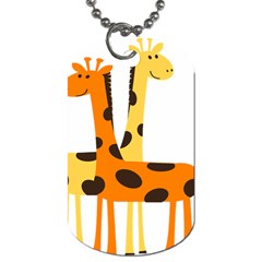 Giraffe Africa Safari Wildlife Dog Tag (two Sides) by Nexatart