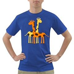 Giraffe Africa Safari Wildlife Dark T Shirt