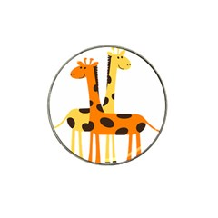 Giraffe Africa Safari Wildlife Hat Clip Ball Marker