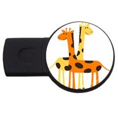 Giraffe Africa Safari Wildlife Usb Flash Drive Round (4 Gb) by Nexatart