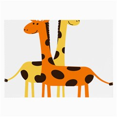 Giraffe Africa Safari Wildlife Large Glasses Cloth (2 Side) by Nexatart