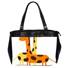 Giraffe Africa Safari Wildlife Office Handbags (2 Sides)  by Nexatart
