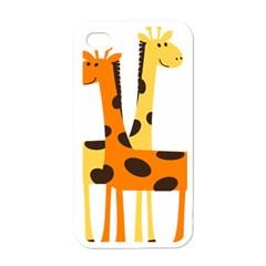 Giraffe Africa Safari Wildlife Apple Iphone 4 Case (white)