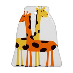 Giraffe Africa Safari Wildlife Bell Ornament (two Sides)