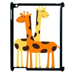 Giraffe Africa Safari Wildlife Apple Ipad 2 Case (black) by Nexatart