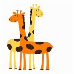 Giraffe Africa Safari Wildlife Small Garden Flag (two Sides) by Nexatart