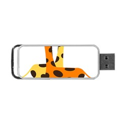Giraffe Africa Safari Wildlife Portable Usb Flash (two Sides) by Nexatart