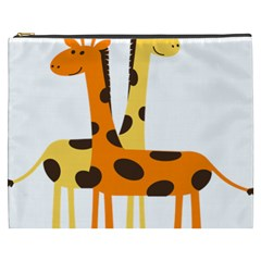 Giraffe Africa Safari Wildlife Cosmetic Bag (xxxl)