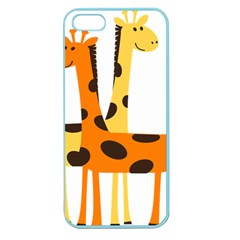 Giraffe Africa Safari Wildlife Apple Seamless Iphone 5 Case (color) by Nexatart