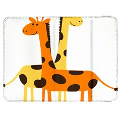 Giraffe Africa Safari Wildlife Samsung Galaxy Tab 7  P1000 Flip Case by Nexatart