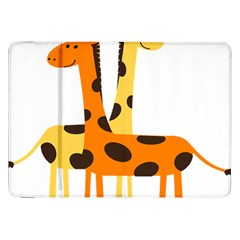 Giraffe Africa Safari Wildlife Samsung Galaxy Tab 8 9  P7300 Flip Case by Nexatart