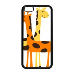 Giraffe Africa Safari Wildlife Apple Iphone 5c Seamless Case (black) by Nexatart