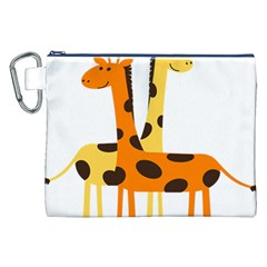 Giraffe Africa Safari Wildlife Canvas Cosmetic Bag (xxl) by Nexatart