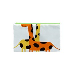 Giraffe Africa Safari Wildlife Cosmetic Bag (xs)