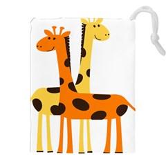 Giraffe Africa Safari Wildlife Drawstring Pouches (xxl) by Nexatart