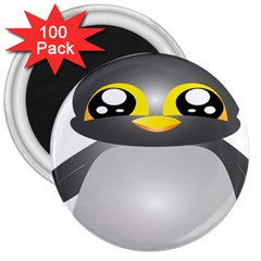 Cute Penguin Animal 3  Magnets (100 Pack)