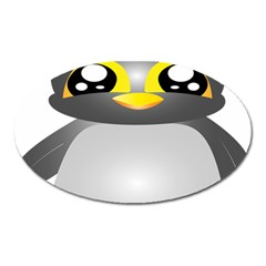 Cute Penguin Animal Oval Magnet by Nexatart