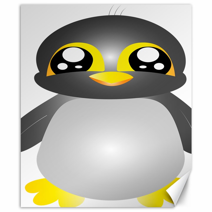 Cute Penguin Animal Canvas 8  x 10