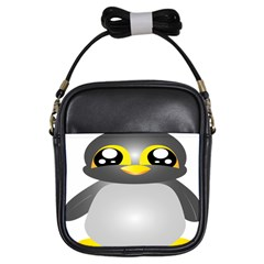 Cute Penguin Animal Girls Sling Bags by Nexatart