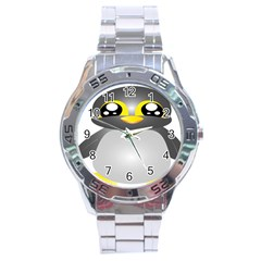Cute Penguin Animal Stainless Steel Analogue Watch