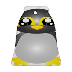 Cute Penguin Animal Bell Ornament (two Sides)