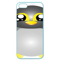 Cute Penguin Animal Apple Seamless Iphone 5 Case (color)